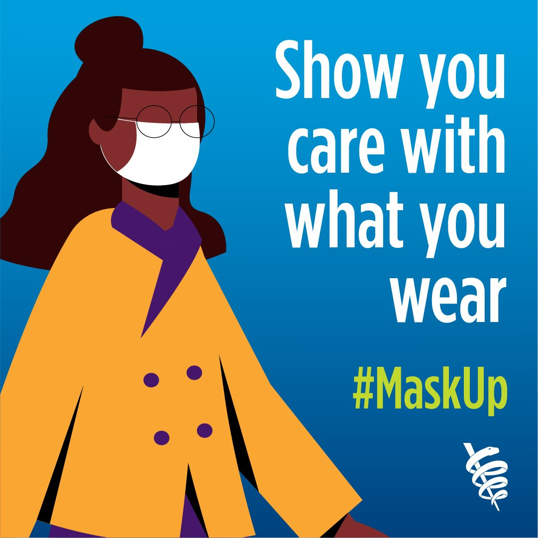 Show you care with what you wear #maskup image